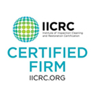 IICRC certified in Water Damage and Carpet Cleaning